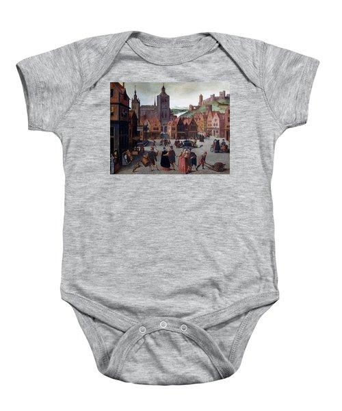 The Marketplace In Bergen Op Zoom Baby Onesie