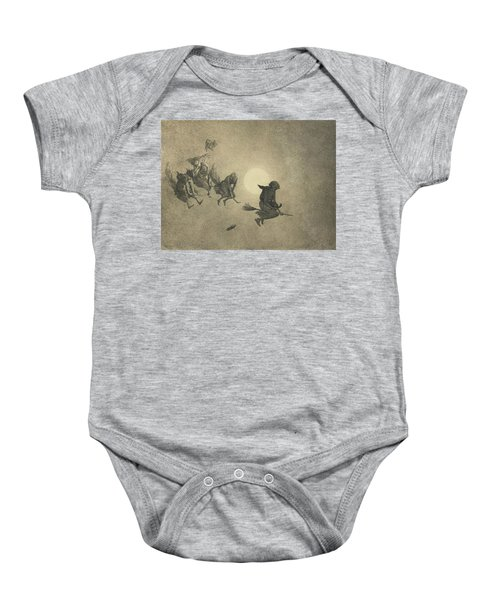 The Witches' Ride Baby Onesie