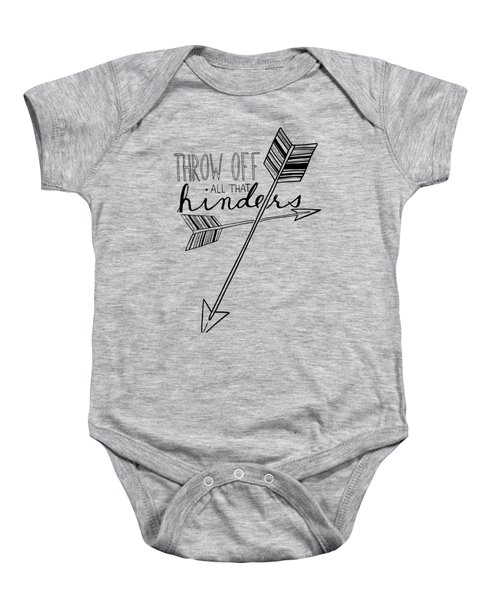 Throw Off All That Hinders Baby Onesie