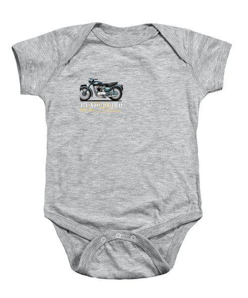 Triumph Thunderbird 1955 Baby Onesie by Mark Rogan