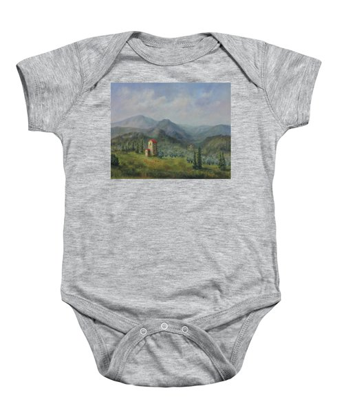 Tuscany Italy Olive Groves Baby Onesie