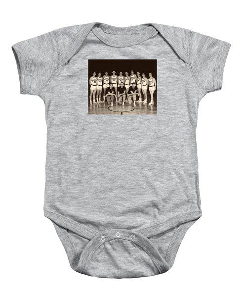 University Of Michigan Basketball Team 1960-61 Baby Onesie