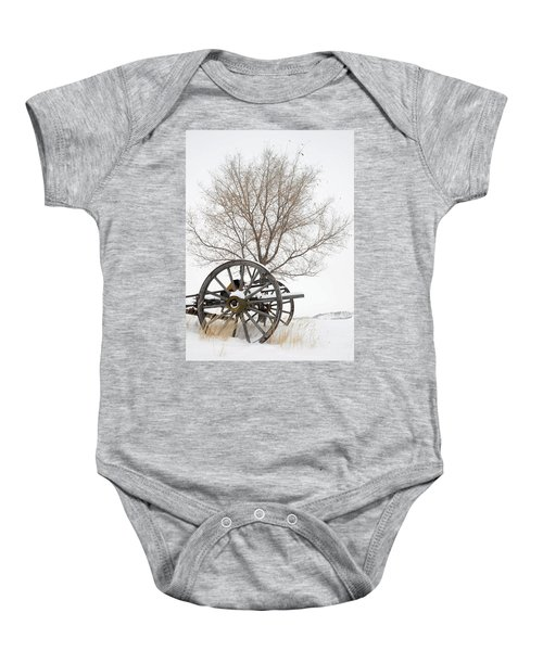 Wagon In The Snow Baby Onesie