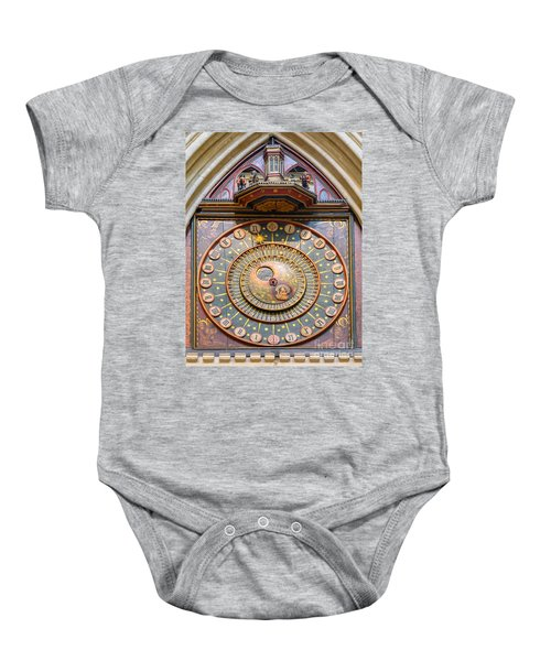 Wells Cathedral Clock Baby Onesie