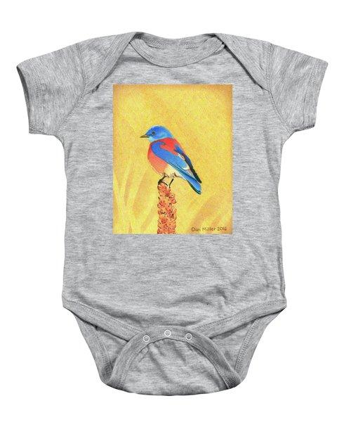 Western Bluebird Baby Onesie