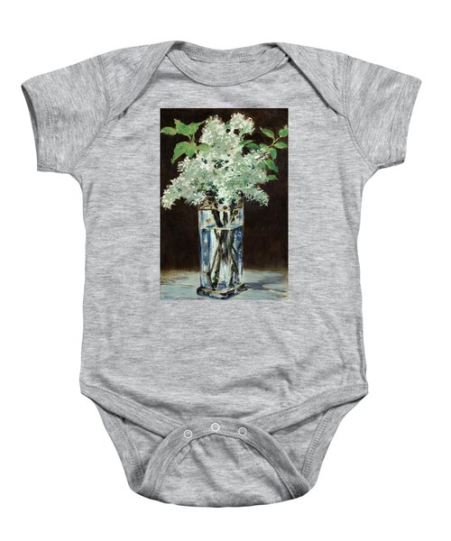 White Lilacs In A Crystal Vase Baby Onesie