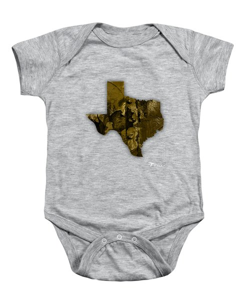 Texas State Map Collection Baby Onesie by Marvin Blaine
