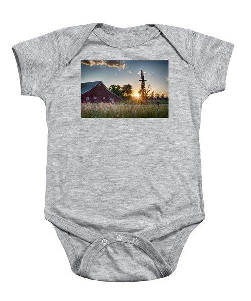 17 Mile House Farm - Sunset Baby Onesie