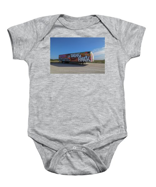 18 Wheeler Art Baby Onesie