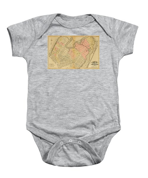 1879 Inwood Map  Baby Onesie by Cole Thompson