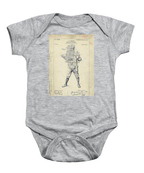 1904 Baseball Catcher Patent Baby Onesie