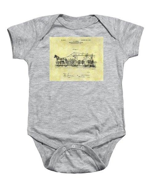 1907 Cotton Harvester Patent Baby Onesie