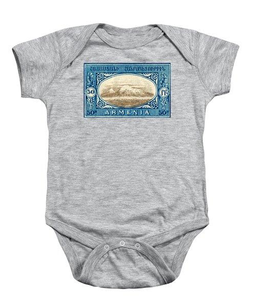 1920 Armenian Mount Ararat Stamp Baby Onesie
