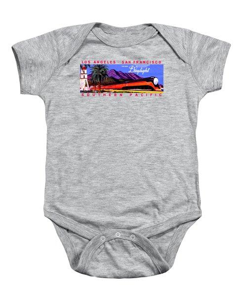 1922 Daylight Railroad Train Baby Onesie