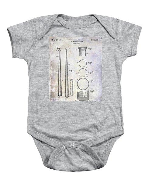 1926 Baseball Bat Patent Baby Onesie