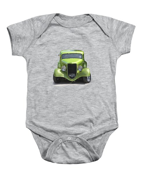 1934 Ford Street Hot Rod On A Transparent Background Baby Onesie by Terri Waters