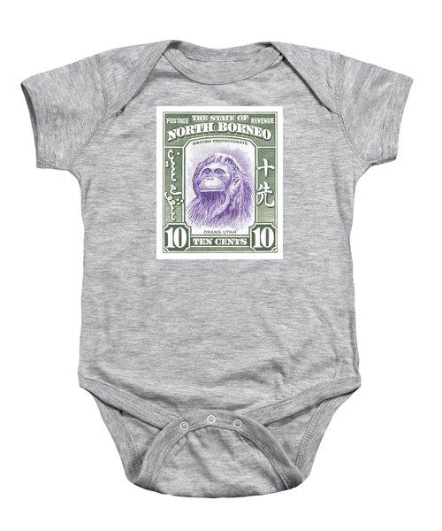 1939 North Borneo Orangutan Stamp Baby Onesie