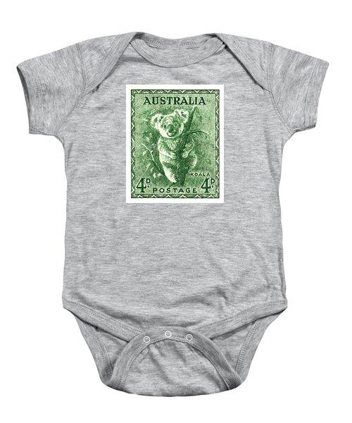 1940 Australia Koala Postage Stamp Baby Onesie