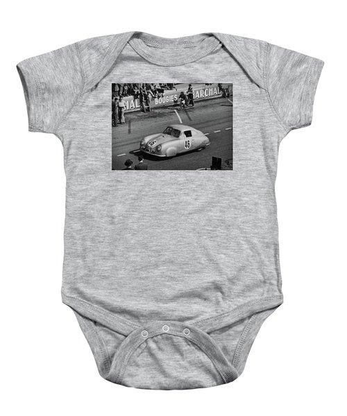 1951 Porsche Winning At Le Mans  Baby Onesie