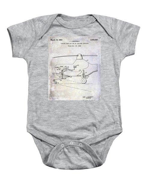 1953 Helicopter Patent Baby Onesie by Jon Neidert