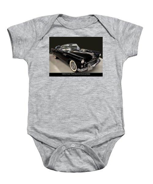 1955 Ford Thunderbird Convertible Baby Onesie