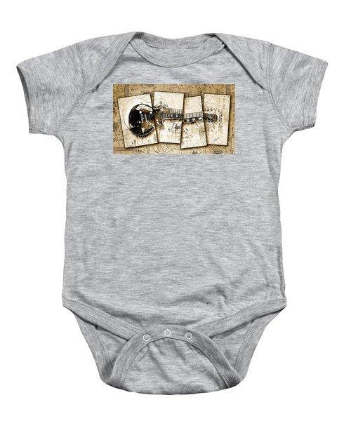 1955 Les Paul Custom Black Beauty V5 Baby Onesie by Gary Bodnar