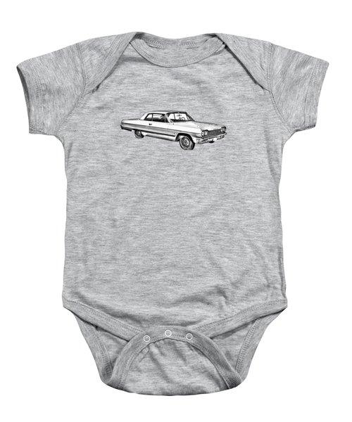 1964 Chevrolet Impala Car Illustration Baby Onesie
