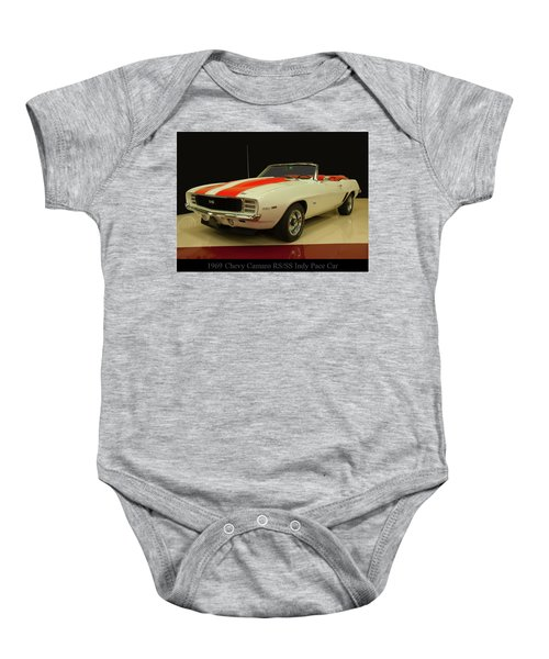 1969 Chevy Camaro Rs/ss Indy Pace Car Baby Onesie