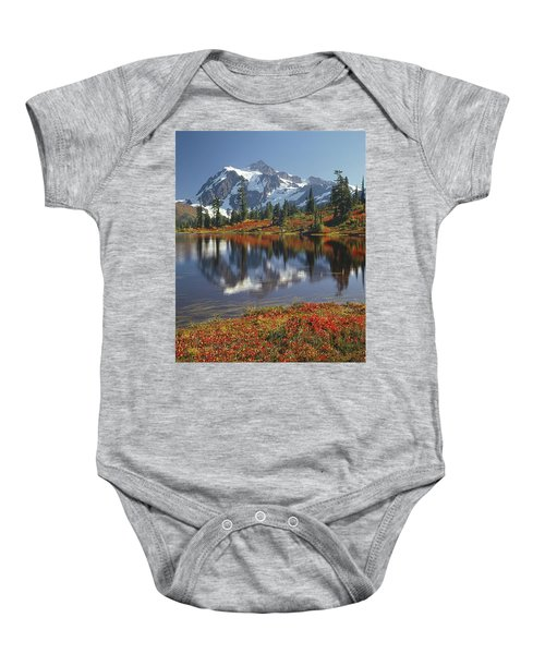 1m4208 Mt. Shuksan And Picture Lake Baby Onesie
