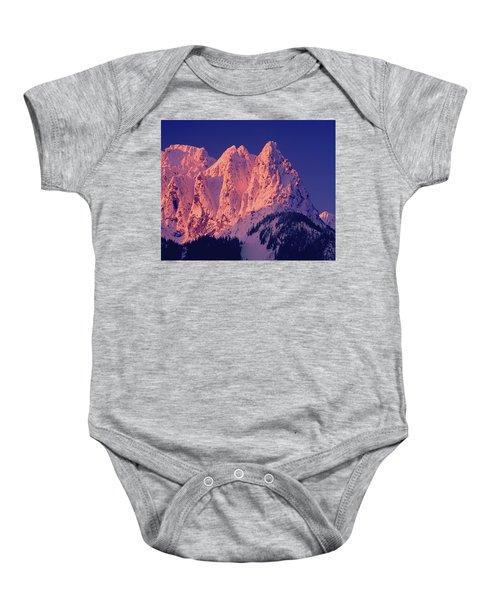 1m4503-a Three Peaks Of Mt. Index At Sunrise Baby Onesie