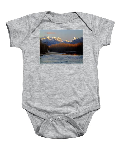 1m4525 Skykomish River And West Central Cascade Mountains Baby Onesie