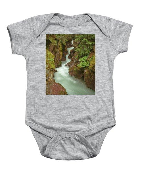 1m8115 Avalanche Gorge Mt Baby Onesie