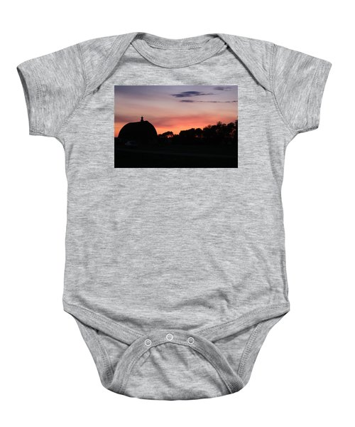 Barn Sunset Baby Onesie