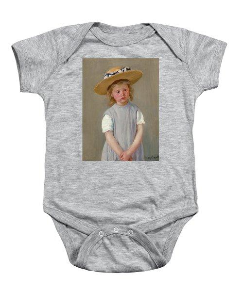 Child In A Straw Hat Baby Onesie