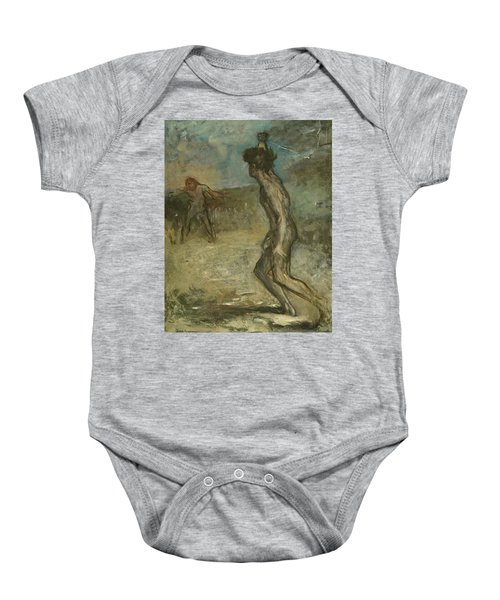 David And Goliath Baby Onesie