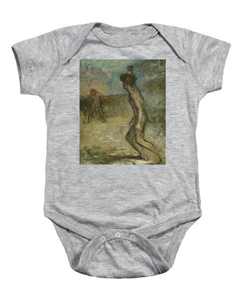 David And Goliath Baby Onesie