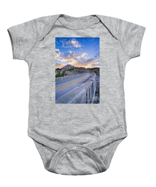 Baby Onesie featuring the photograph Donner Memorial Bridge by Vincent Bonafede