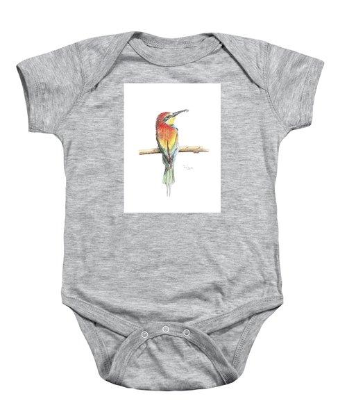 Gruccione - Bee Eater - Merops Apiaster Baby Onesie
