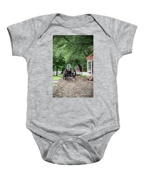 Horse Drawn Wagon Baby Onesie