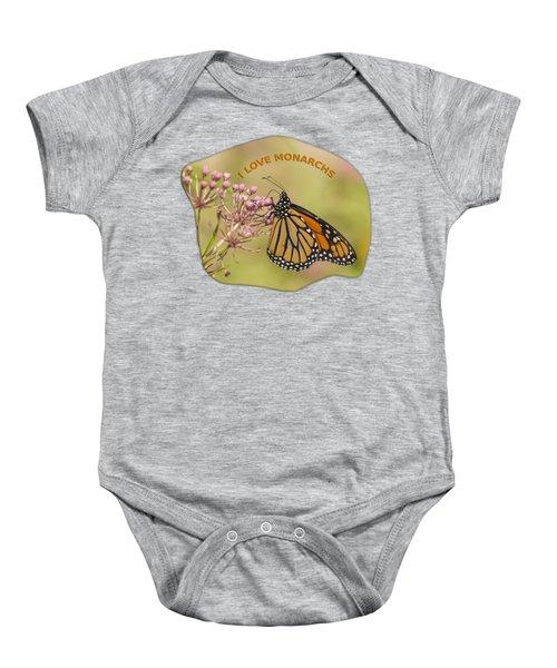 I Love Monarchs Baby Onesie