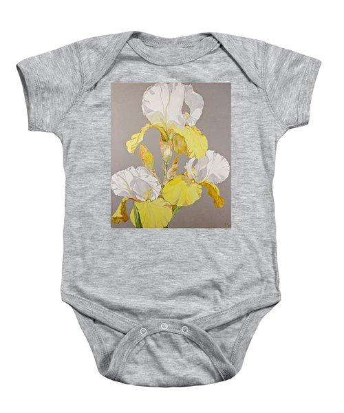 Irises-posthumously Presented Paintings Of Sachi Spohn  Baby Onesie