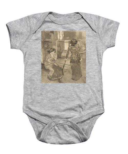 Mary Cassatt At The Louvre Baby Onesie