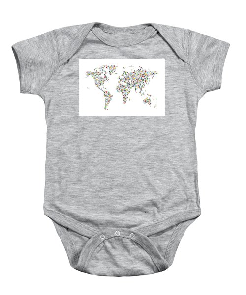 Vintage map of the world baby onesies fine art america stars map of the world map baby onesie gumiabroncs Choice Image