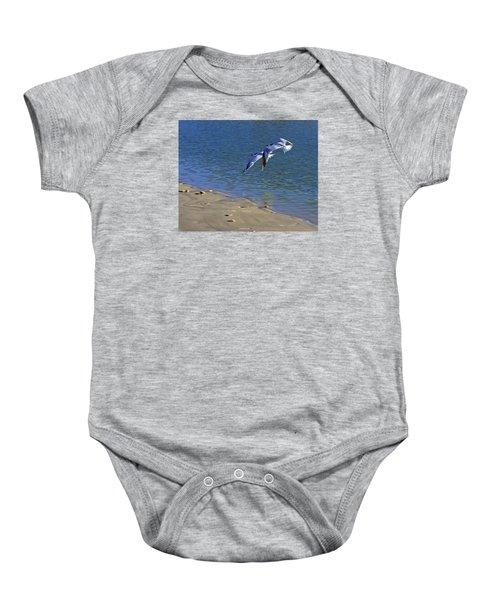 2 Terns In Flight Baby Onesie