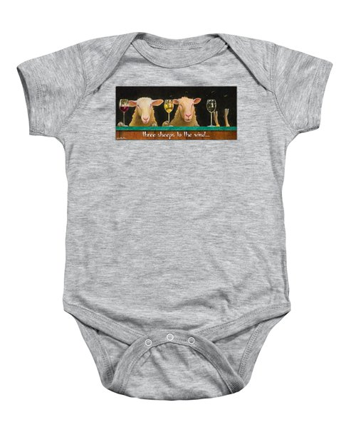 Three Sheeps To The Wind... Baby Onesie by Will Bullas
