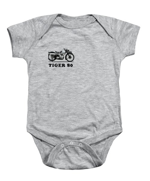 Triumph Tiger 80 1937 Baby Onesie by Mark Rogan