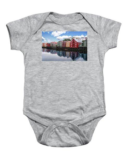 Trondheim Coastal View Baby Onesie