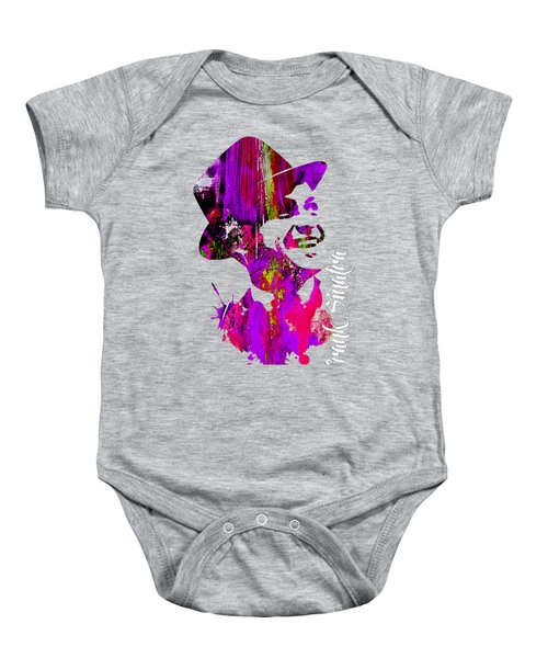 Frank Sinatra Collection Baby Onesie by Marvin Blaine