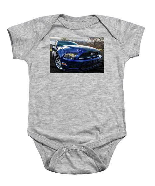 Baby Onesie featuring the photograph 2014 Ford Mustang by Randy Scherkenbach