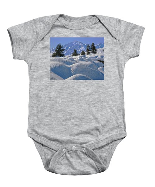 2m6402 Mt. Tom From Sherwin Grade Baby Onesie